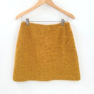 Uniqlo Wool Lined Mustard Mini Skirt